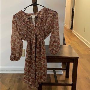3/4 length sleeve long top